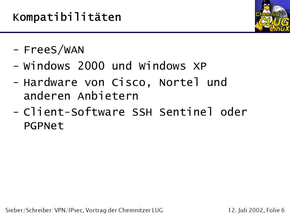 Hardware von Cisco, Nortel und anderen Anbietern