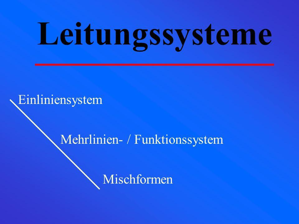 Leitungssysteme Einliniensystem Mehrlinien- / Funktionssystem