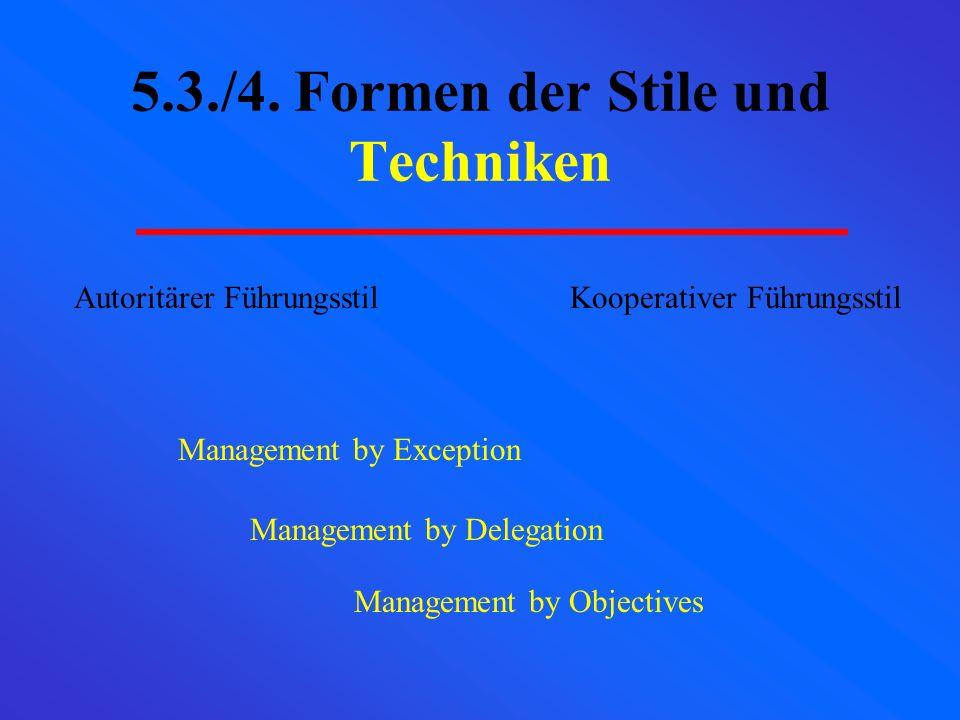 5.3./4. Formen der Stile und Techniken