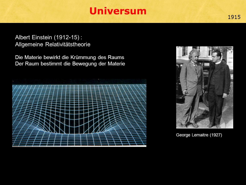 Universum Albert Einstein (1912-15) : Allgemeine Relativitätstheorie
