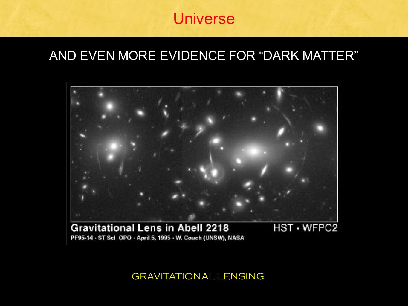 AND EVEN MORE EVIDENCE FOR DARK MATTER