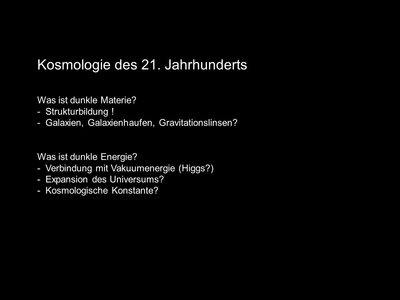 Kosmologie des 21. Jahrhunderts