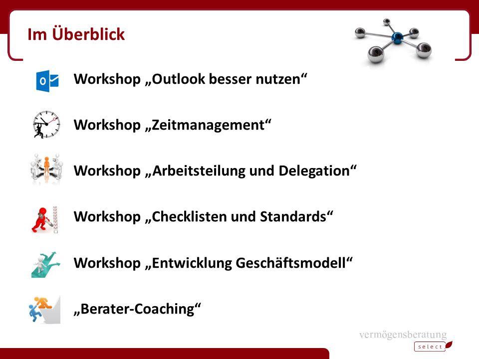 """Im Überblick Workshop """"Outlook besser nutzen"""