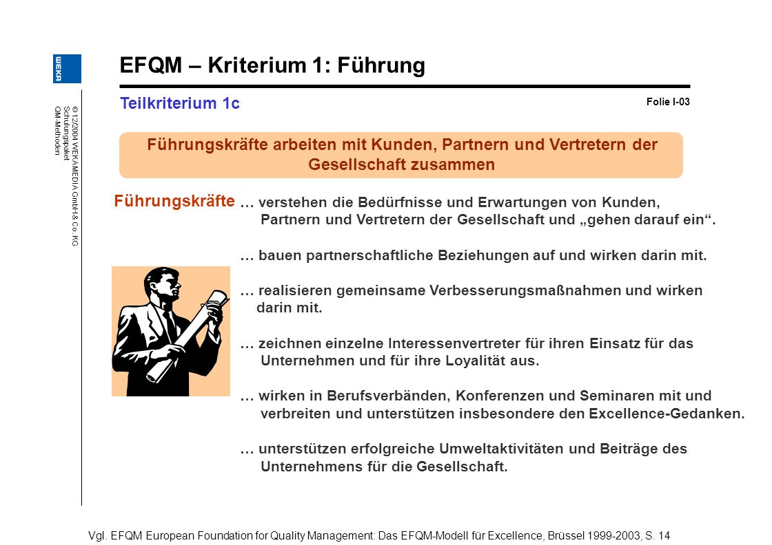 EFQM – Kriterium 1: Führung