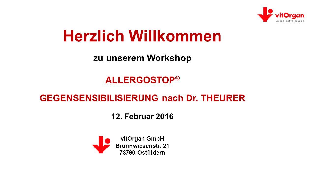 Herzlich Willkommen zu unserem Workshop ALLERGOSTOP® GEGENSENSIBILISIERUNG nach Dr.