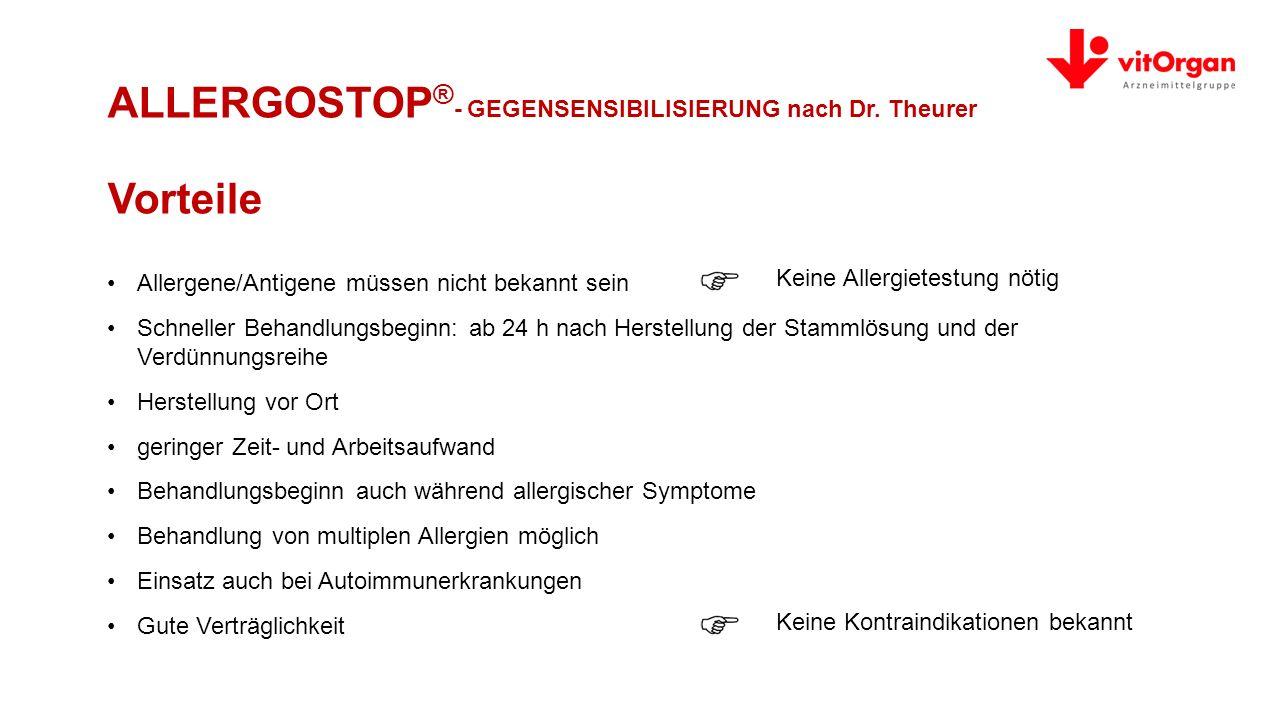 ALLERGOSTOP®- GEGENSENSIBILISIERUNG nach Dr. Theurer Vorteile