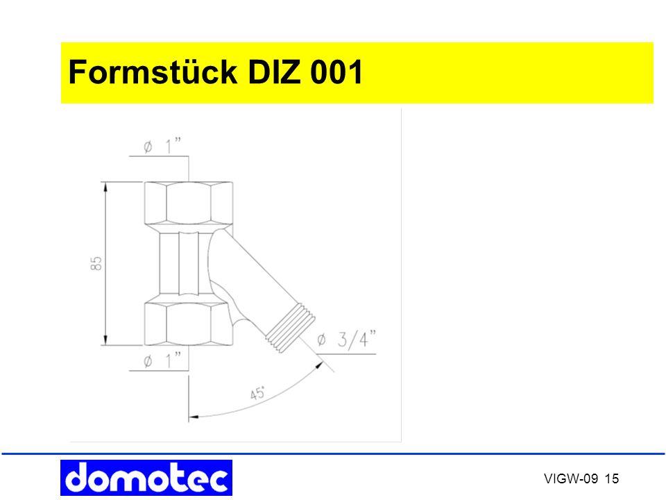 Formstück DIZ 001