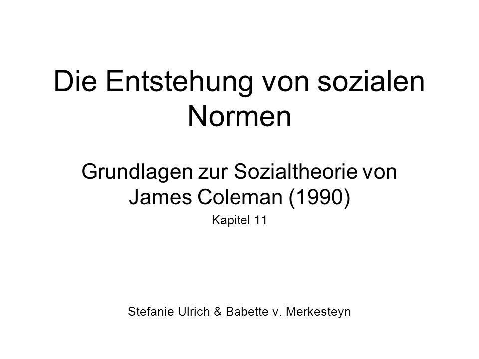 Die Entstehung von sozialen Normen