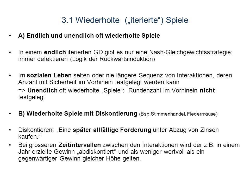 """3.1 Wiederholte (""""iterierte ) Spiele"""