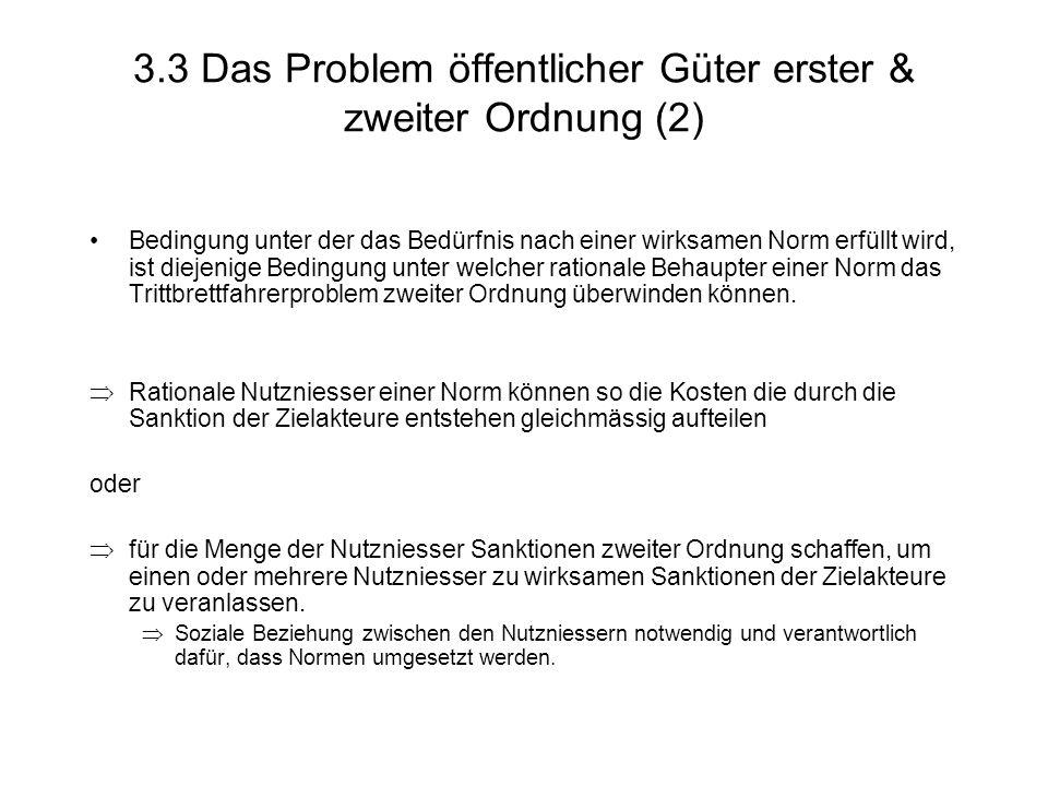 3.3 Das Problem öffentlicher Güter erster & zweiter Ordnung (2)