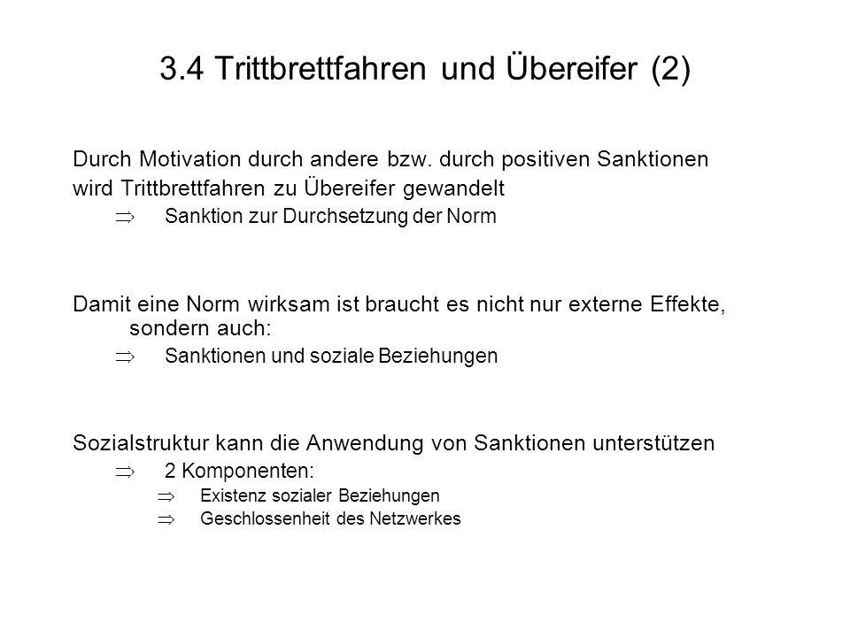 3.4 Trittbrettfahren und Übereifer (2)