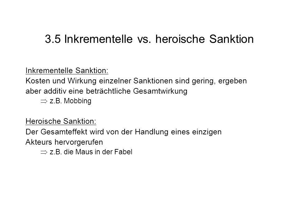 3.5 Inkrementelle vs. heroische Sanktion