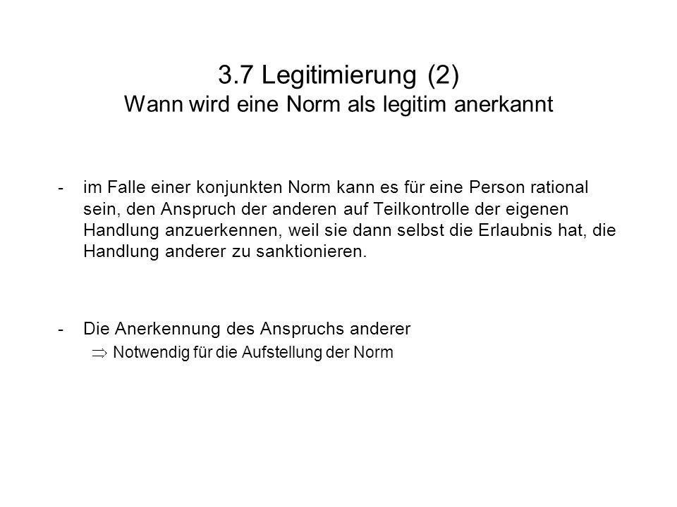 3.7 Legitimierung (2) Wann wird eine Norm als legitim anerkannt