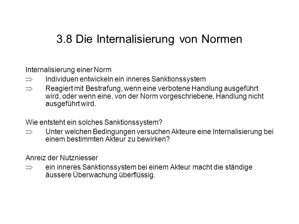 3.8 Die Internalisierung von Normen