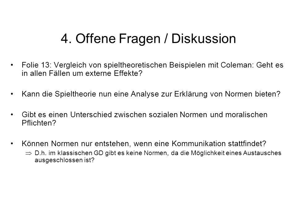 4. Offene Fragen / Diskussion