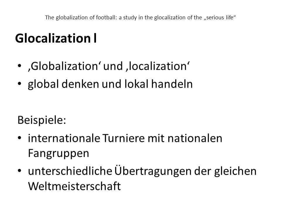 Glocalization l 'Globalization' und 'localization'