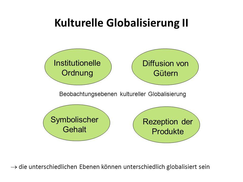 Kulturelle Globalisierung II