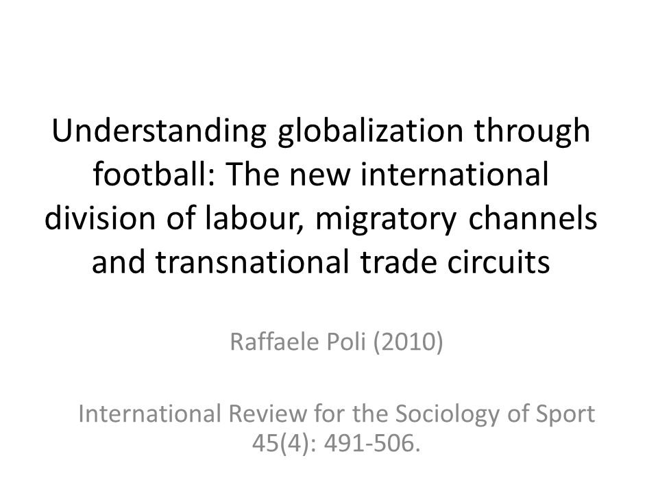 International Review for the Sociology of Sport 45(4):