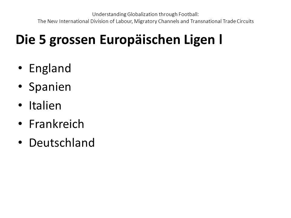Die 5 grossen Europäischen Ligen l