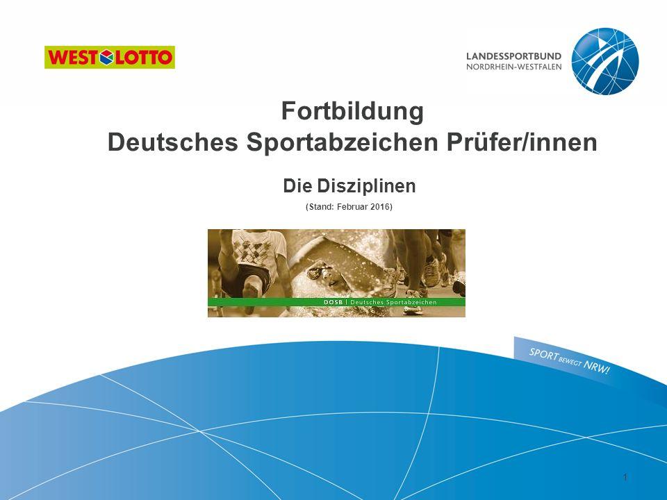 Fortbildung Deutsches Sportabzeichen Prüfer/innen