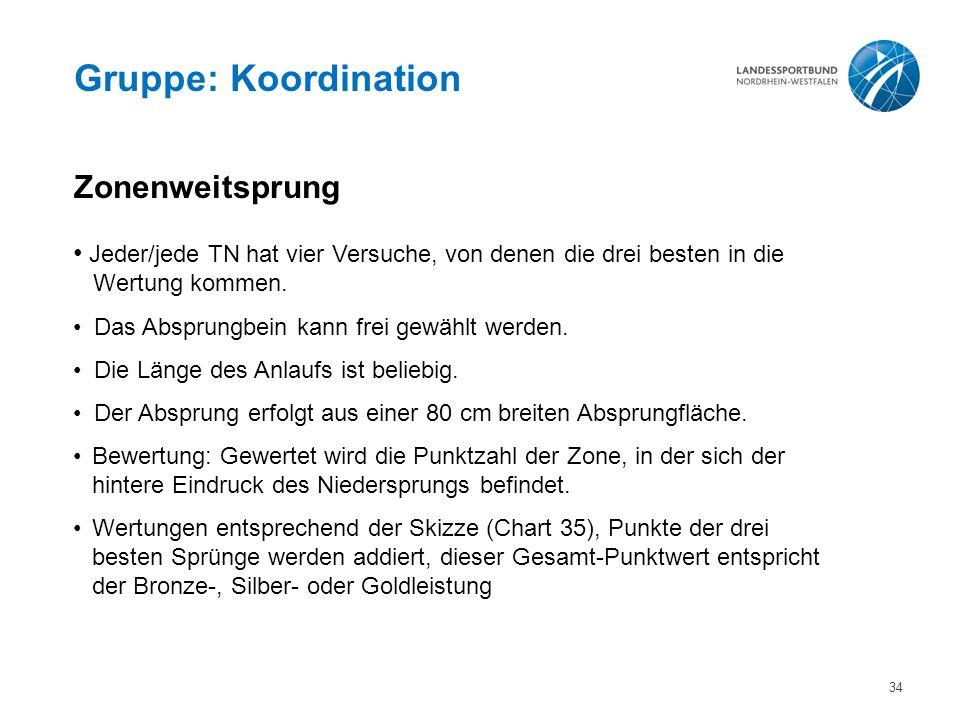 Gruppe: Koordination Zonenweitsprung
