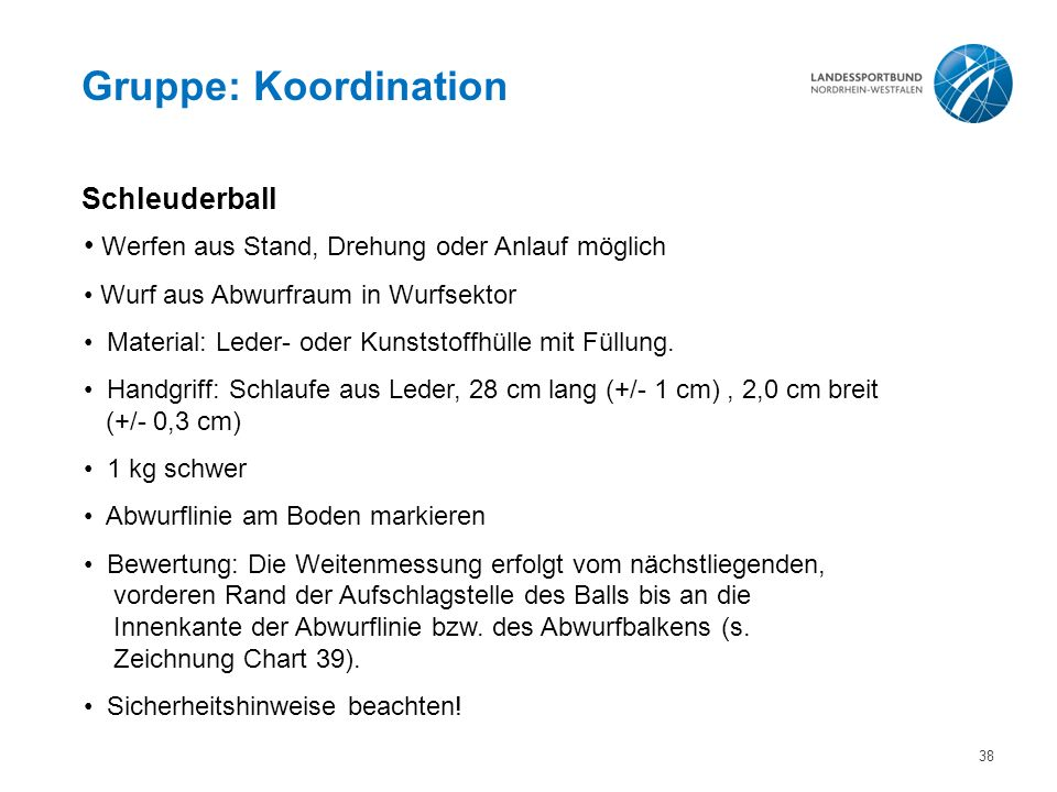 Gruppe: Koordination Schleuderball