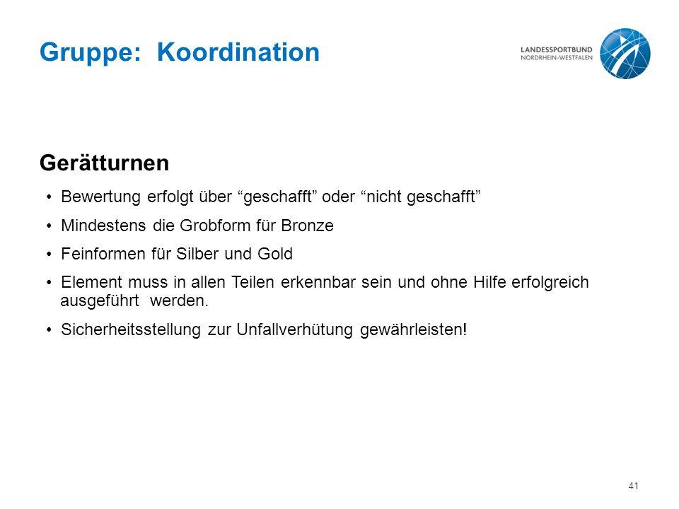 Gruppe: Koordination Gerätturnen