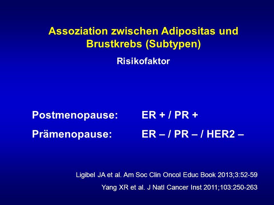 Assoziation zwischen Adipositas und Brustkrebs (Subtypen)