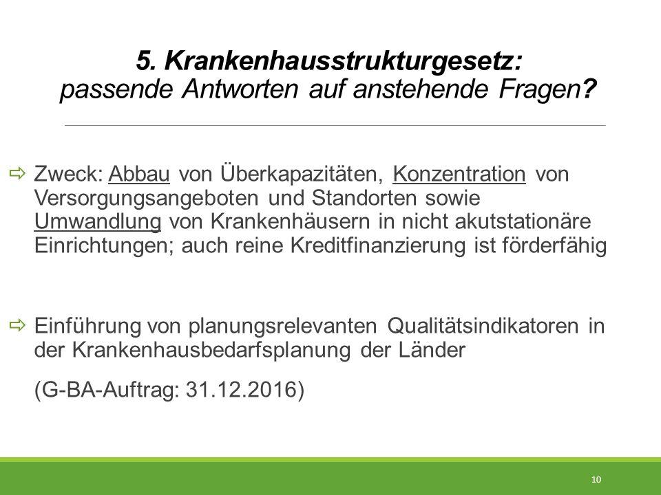5. Krankenhausstrukturgesetz: passende Antworten auf anstehende Fragen