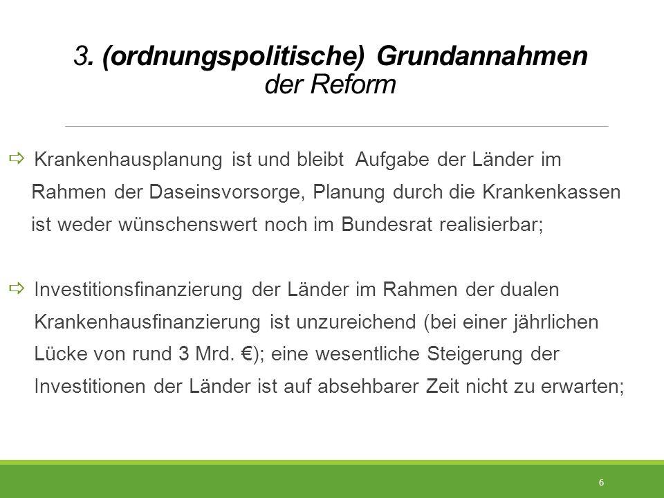 3. (ordnungspolitische) Grundannahmen der Reform