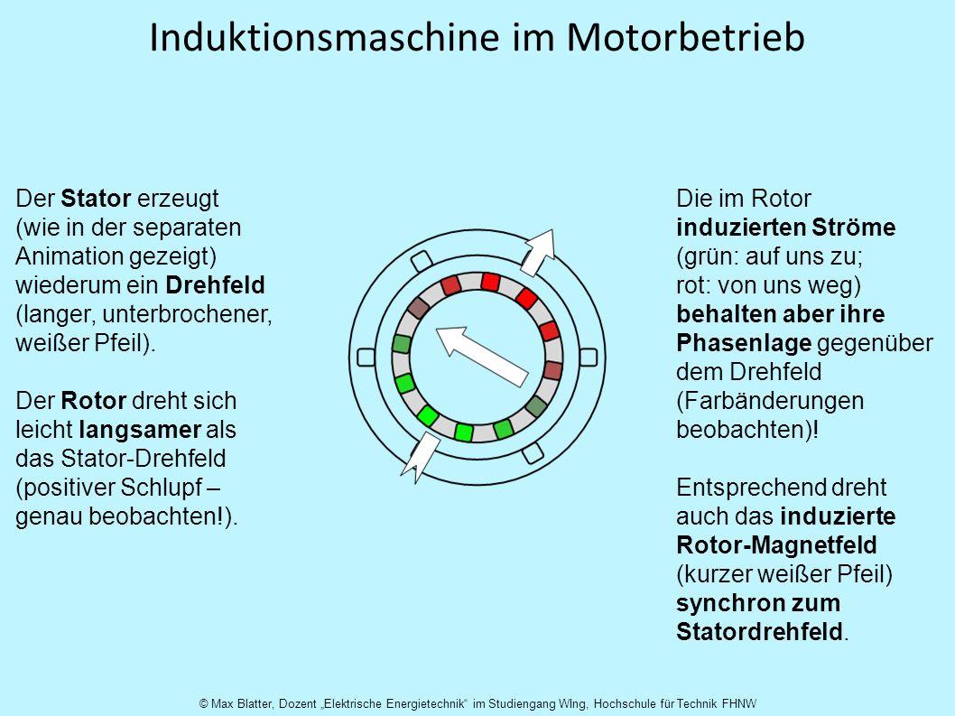 Induktionsmaschine im Motorbetrieb