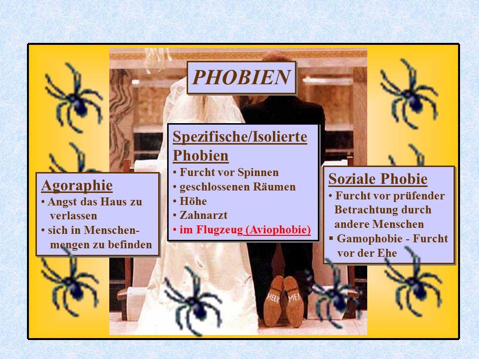 PHOBIEN Spezifische/Isolierte Phobien Soziale Phobie Agoraphie