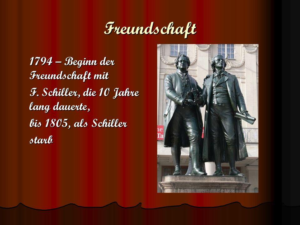 Freundschaft 1794 – Beginn der Freundschaft mit
