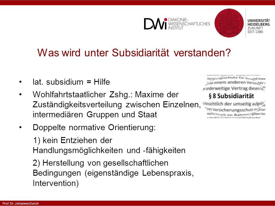 Was wird unter Subsidiarität verstanden
