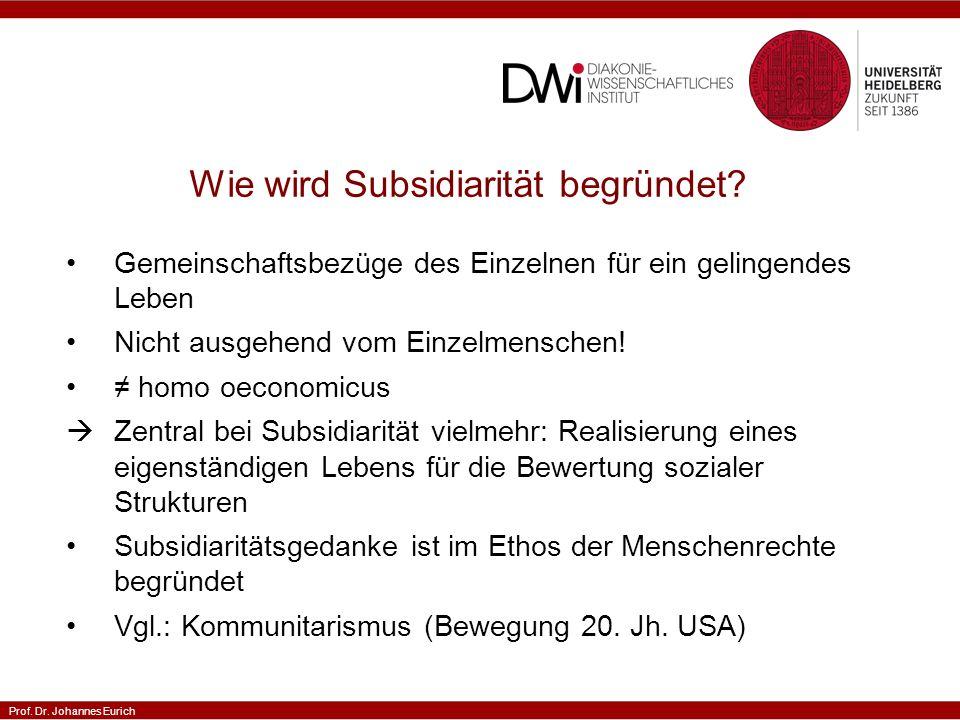 Wie wird Subsidiarität begründet