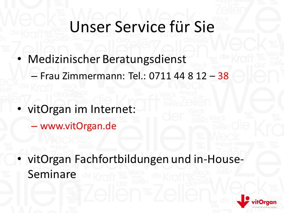 Unser Service für Sie Medizinischer Beratungsdienst