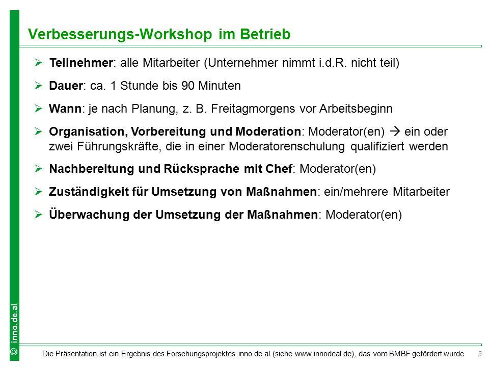 Verbesserungs-Workshop im Betrieb