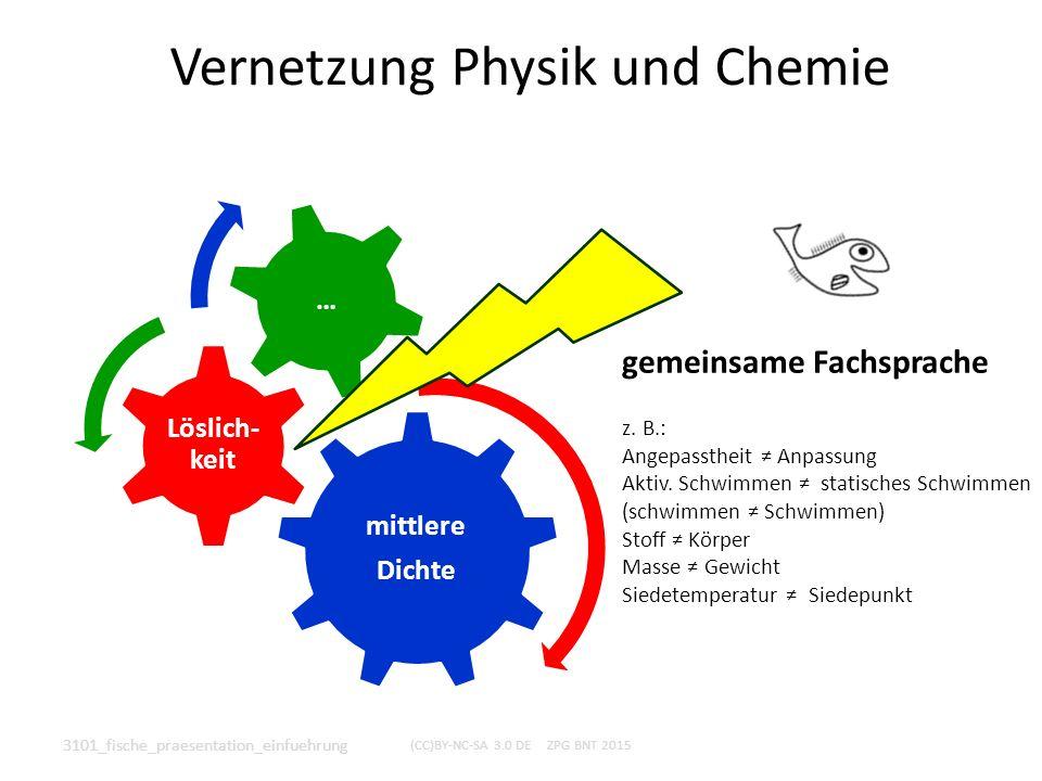Vernetzung Physik und Chemie