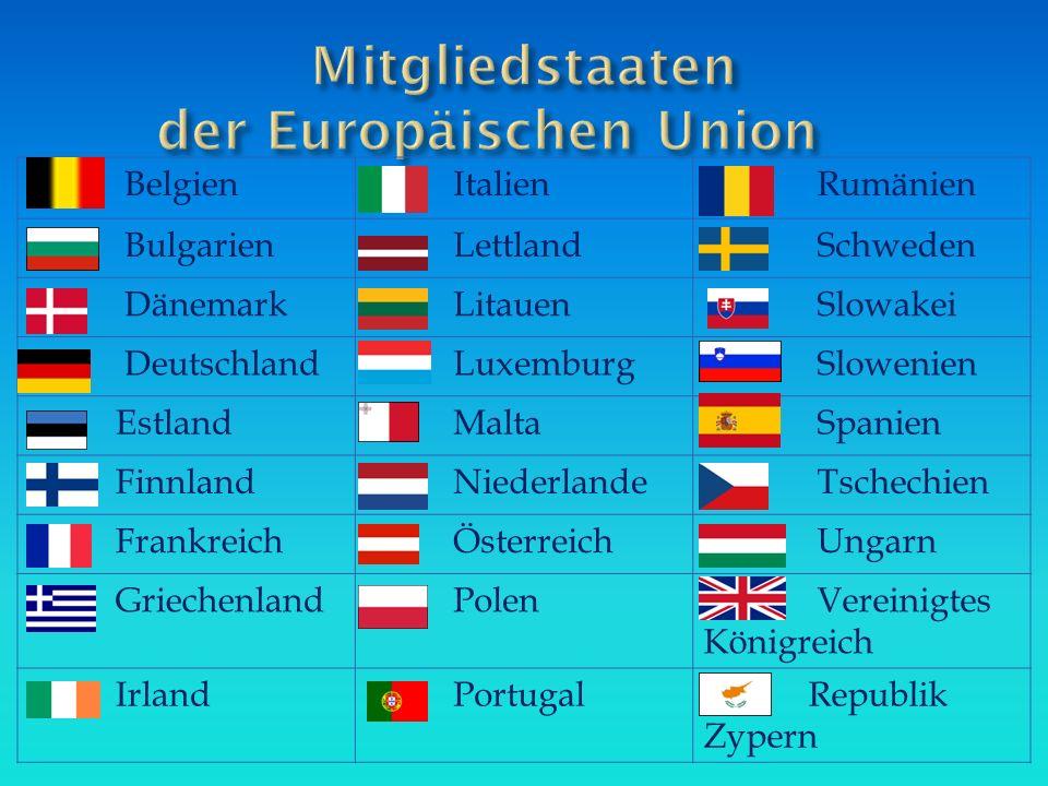 Mitgliedstaaten der Europäischen Union