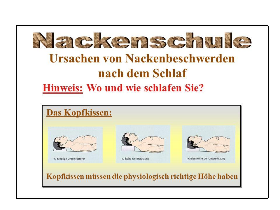Ursachen von Nackenbeschwerden