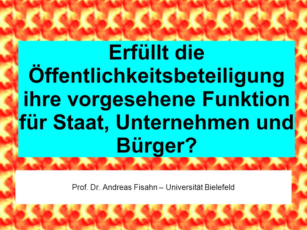 Prof. Dr. Andreas Fisahn – Universität Bielefeld