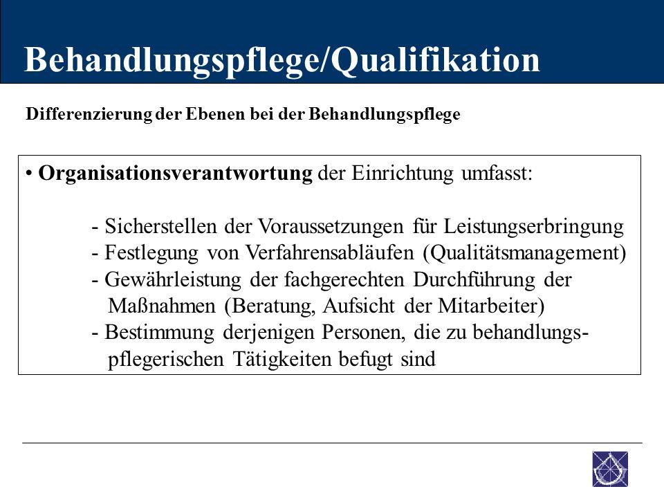 Behandlungspflege/Qualifikation