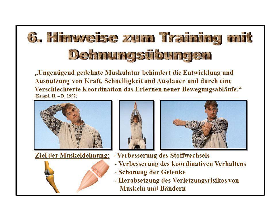 6. Hinweise zum Training mit