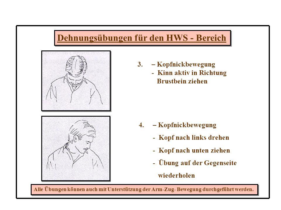 Dehnungsübungen für den HWS - Bereich