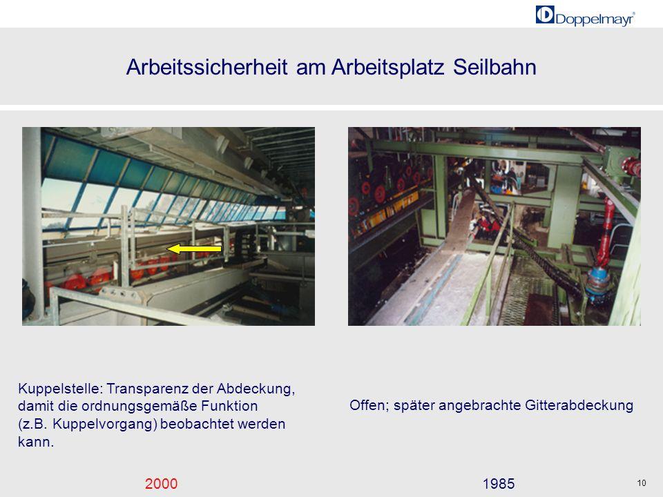 Kuppelstelle: Transparenz der Abdeckung, damit die ordnungsgemäße Funktion (z.B. Kuppelvorgang) beobachtet werden kann.