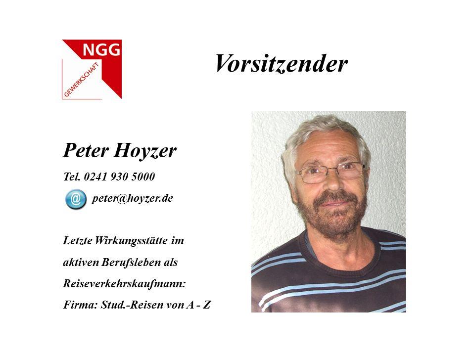 Vorsitzender Peter Hoyzer Tel. 0241 930 5000 peter@hoyzer.de