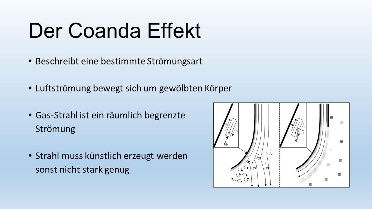 Der Coanda Effekt Beschreibt eine bestimmte Strömungsart