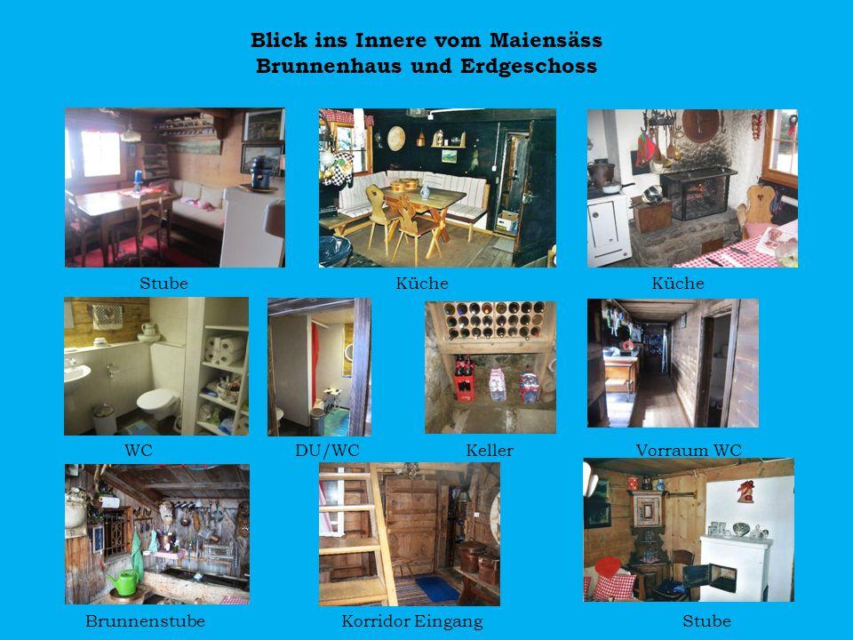 Blick ins Innere vom Maiensäss Brunnenhaus und Erdgeschoss
