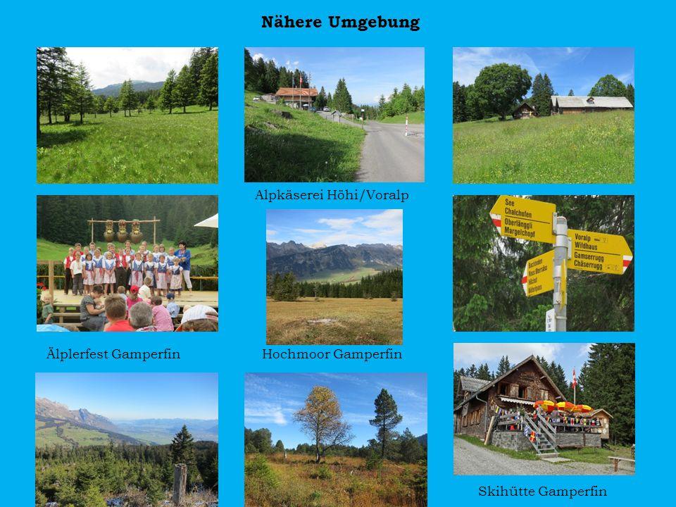 Nähere Umgebung Alpkäserei Höhi/Voralp
