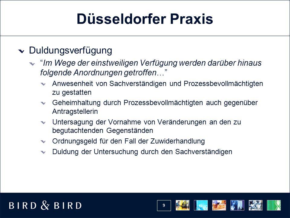 Düsseldorfer Praxis Duldungsverfügung